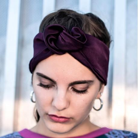 Bandeau twist violet