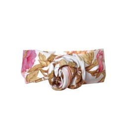 Bandeau twist imprimé foulard