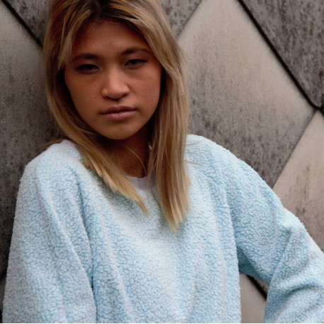 Sweatshirt bleu glacier